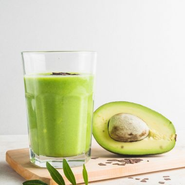 Tropical Low-Calorie Avocado Smoothie [Recipe] | healthyinbody.com